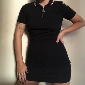H&M Fitted Collared Dress